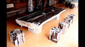 petrified wood dining table petrified wood dining table stone top youtube