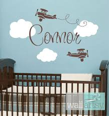 Personalized Nursery Wall Decals Airplane Wall Decals Airplane Cloud And Personalized Name Vinyl