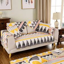 cotton sofa slipcovers 1 piece cotton sofa cover geometric printing soft modern slip