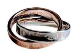 silver rings tiffany images Tiffany co rose gold and sterling silver 1837 interlocking ring jpg