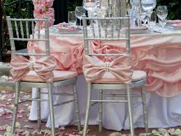 wedding bows for chairs tangedesign two pink bows with large pearl chiavari chair by