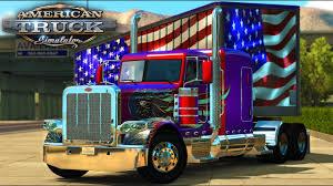 american flag truck american truck simulator american wings 389 usa flag box