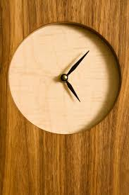 minimalist wall clock wall clock with bird marquetry pure nard woodworking danville il