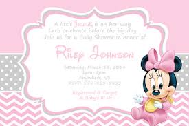 babyshower invitations baby minnie mouse baby shower invitations partyexpressinvitations