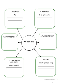 my ideal holiday worksheet english teaching worksheets travelling