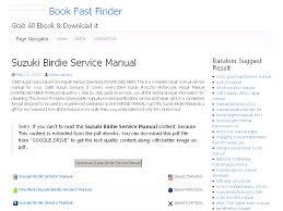29 suzuki birdie service manual