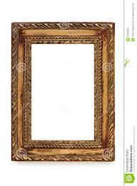 gilded shabby chic picture frame over white royalty free stock
