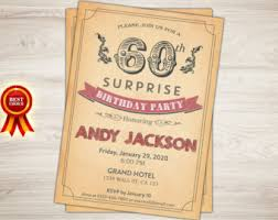 surprise 60th birthday invitation surprise birthday