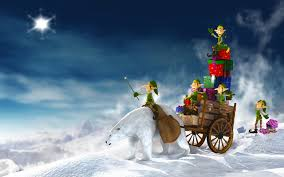 christmas elves 3d hd desktop wallpaper for 4k ultra hd tv