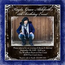 square festive 18th birthday card photo custom colors personalized