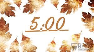 thanksgiving crisp leaves countdown playback media