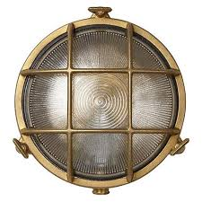Bulkhead Outdoor Lights Uber L Rock Bulkhead Dl10bbr Brass Exterior Wall Light
