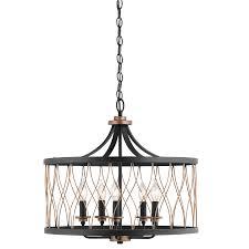 kichler pendant lights lowes shop kichler lighting brookglen 20 47 in w black and suede vintage