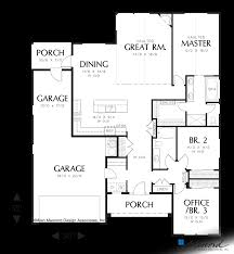 story and half house plans main floor plan of mascord plan 1152 the buckner one story