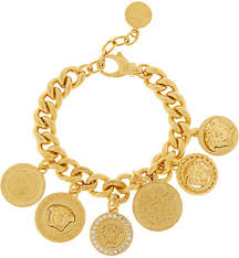 gold plated bracelet charms images Versace gold plated swarovski crystal charm bracelet where to jpg