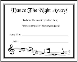 wedding song request cards 24 personalised wedding song request cards score