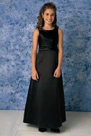 jr bridesmaids dresses waist pleated satin black junior bridesmaid