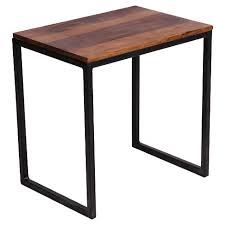 3 piece nesting tables reclaimed seesham wood and iron 3 piece nesting table set 20h x