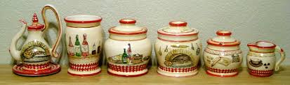 italian canisters kitchen canister sets terra cotta canister sets italian maiolica kitchen