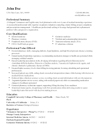 Entry Level Pharmacy Technician Resume Pharm D Resume Free Resume Example And Writing Download
