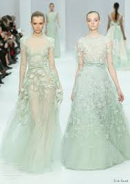 Green Dresses For Weddings Elie Saab Spring 2012 Couture Wedding Inspirasi