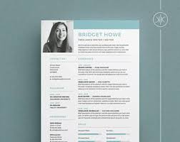 resume template indesign millie resume cv template word photoshop indesign