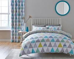 catherine lansfield scandi geo multi duvet cover set double