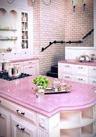 pink kitchen ideas shabby chic kitchen ideas with stylish pink countertop and