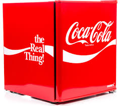 buy husky coca cola hus el207 mini fridge red free delivery