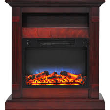 sienna 34 in electric fireplace w multi color led insert and
