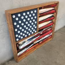 upcycled baseball bat american flag art u2013 urbanamericana