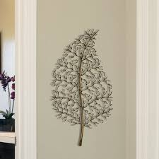 astonishing design leaf wall decor incredible giant leaf wall