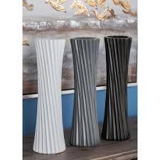 Decorative Vases 6 In Sculpted White Ceramic Decorative Vases Set Of 3 92564