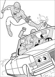 printable spiderman coloring pages kids coloring pages