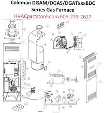 dgat070bdd coleman gas furnace parts u2013 hvacpartstore