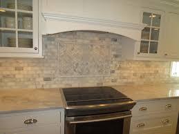 interior kitchen backsplash subway tile with red glass subway