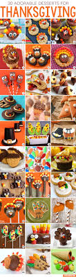 30 adorable thanksgiving desserts chickabug