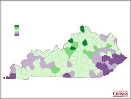 Ky County Map Kentucky County Population Change Map Free Download
