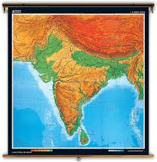 Physical Map Of Asia by Klett Perthes Extra Large Physical Map Of Southern Asia India