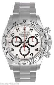 rolex bracelet white gold images Rolex daytona auto 40mm white gold mens bracelet watch chrono jpg