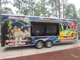 party bus outside buy a mobile video game truck business all cities mobile video