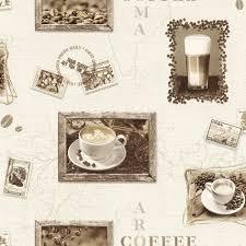 wallpaper borders coffee cups wallpaper kitchen coffee cream beige brown wallpaper rasch aqua
