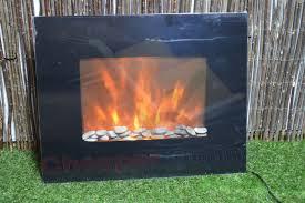 flat panel fireplace heater puraflame galena black 36 inch remote