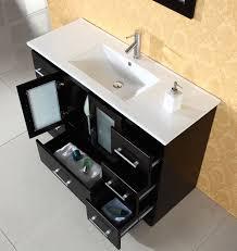 48 Inch Solid Wood Bathroom Vanity by Virtu Zola 48 Inch Modern Bathroom Vanity Solid Oak Wood Construction
