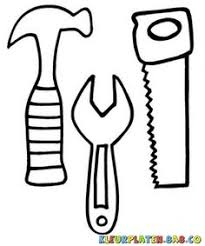 Hammer Saw And Wrench Coloring Pages Use To Make Construction Tools Coloring Page