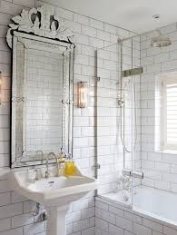 Beveled Subway Tile Shower by 38 Bathroom Mirror Ideas To Reflect Your Style Freshome