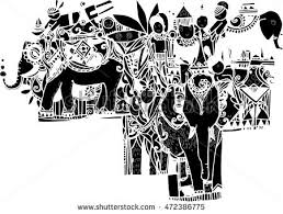 vector art imagination black elephant design stock vector
