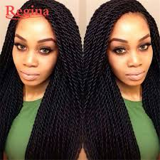 crochet hair wigs for sale cheap braided lace front wig synthetic black braiding hair freetress