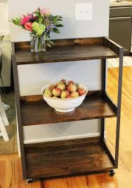 Industrial Kitchen Cart by Diy Industrial Rolling Cart