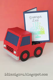 i love doing all things crafty 3d paper truck